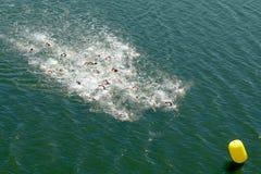 Schwimmer im Meer Lizenzfreie Stockbilder