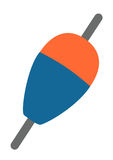 Schwimmer lokalisiertes Logo Stockbilder