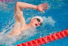 Schwimmer-Schwimmen-Schöße Stockbilder