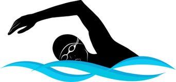 Schwimmerathlet stockbild