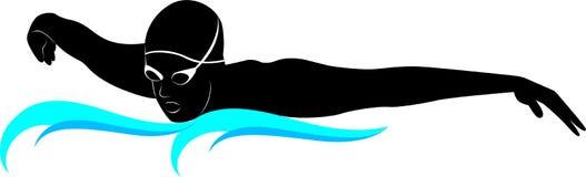 Schwimmerathleten Stockbild