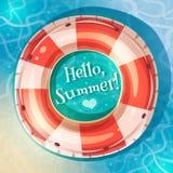 Schwimmring auf Wasser Lizenzfreies Stockfoto