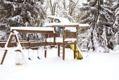Schwingen eingestellt nach einem Blizzard Lizenzfreies Stockfoto