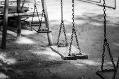 Schwingen im Spielplatz Lizenzfreie Stockbilder