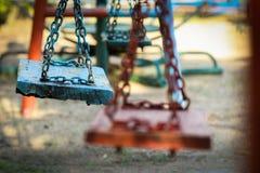 Schwingen im Spielplatz Lizenzfreie Stockfotos