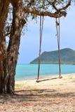 Schwingen mit tropischem Strand in Thailand Lizenzfreies Stockbild