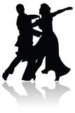 Schwingen-Tanz-Paar-Schattenbild Lizenzfreies Stockfoto