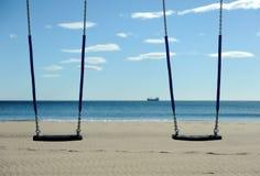 Schwingen und Ozean Lizenzfreie Stockfotos
