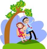 Schwingenfamilie vektor abbildung