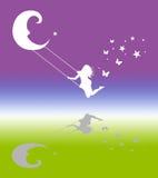 Schwingmädchen colourfull Lizenzfreies Stockfoto