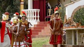 Schwytany Chrystus bije Romańskimi legionistami pasja. zbiory wideo