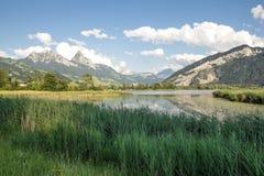 Schwyz sjö Arkivfoton