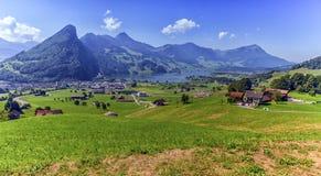 Schwyz and Zurich canton view, Switzerland Stock Photography