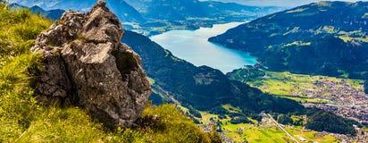 Schynige Platte, die Schweiz. Lizenzfreies Stockbild