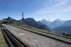 Schynige Platte railway terminus station Royalty Free Stock Photography