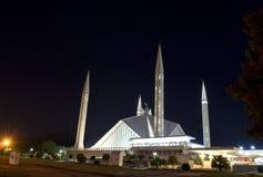 Scià Faisal Mosque Islamabad Fotografia Stock
