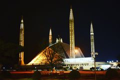 Scià Faisal Mosque, Islamabad immagini stock