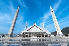 Scià Faisal Mosque Islamabad Pakistan immagini stock libere da diritti