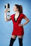 sci πυροβόλων όπλων κοριτσιώ& στοκ φωτογραφίες με δικαίωμα ελεύθερης χρήσης