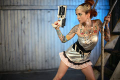 sci πυροβόλων όπλων FI γυναίκα Στοκ εικόνες με δικαίωμα ελεύθερης χρήσης