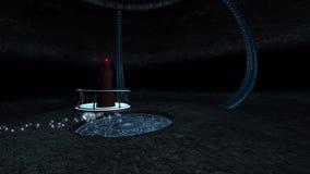 Sci φαντασίας druid FI οι μύγες μέσω της σπηλιάς τρισδιάστατης δίνουν απεικόνιση αποθεμάτων
