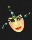 sci девушки fi виртуального пространства Стоковое Изображение RF