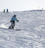 Sci in alpi Fotografia Stock Libera da Diritti