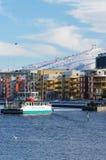 Sci alpino a Stoccolma Immagini Stock