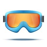 Sci blu dello snowboard della vecchia scuola d'annata classica Immagini Stock