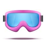 Sci d'annata classico dello snowboard di rosa della vecchia scuola Immagini Stock Libere da Diritti