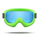 Sci d'annata classico dello snowboard di verde della vecchia scuola Fotografia Stock
