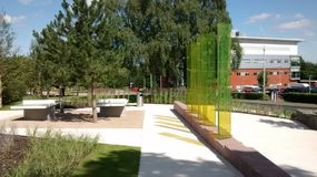 Σύγχρονη τέχνη οδών στο πάρκο sci-τεχνολογία σε Daresbury Στοκ Φωτογραφία