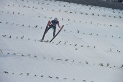 Sci del WC che pilota Vikersund (Norvegia) il 14 febbraio 2015 Immagini Stock
