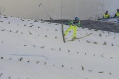Sci del WC che pilota Vikersund (Norvegia) il 14 febbraio 2015 Fotografia Stock