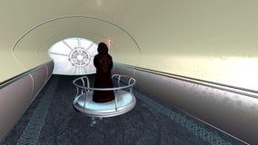 Sci druid FI οι κινήσεις μέσω της σήραγγας τρισδιάστατης δίνουν διανυσματική απεικόνιση