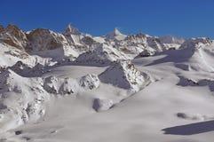 Sci ed il Matterhorn Fotografie Stock Libere da Diritti
