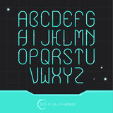 Sci Fi Alphabet Stock Photo