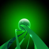Sci fi background. Green. Glossy Stock Photography