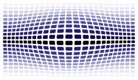 Sci-fi background. Bulging blue sci-fi background on white Royalty Free Stock Image