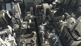 Sci-Fi Cityscape High Altitude Royalty Free Stock Photography