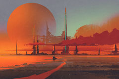 Free Sci-fi Contruction In The Desert Royalty Free Stock Images - 83684839