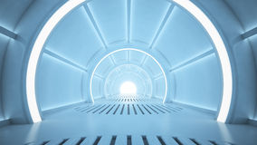 Sci-fi corridor Royalty Free Stock Photos