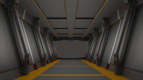 Sci fi  corridor high resolution 3d  render Stock Photos