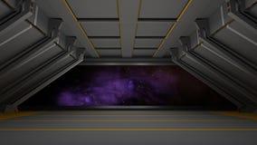 Sci fi  corridor Royalty Free Stock Image