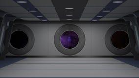 Sci fi  corridor Royalty Free Stock Photography