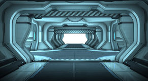 Sci-Fi corridor interior design Stock Photography