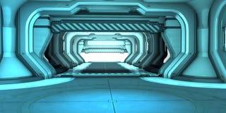 Sci-Fi corridor interior design Royalty Free Stock Photography