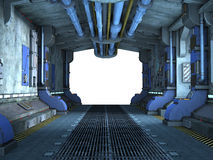 Sci-Fi corridor interior design Stock Images