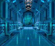 Sci-Fi corridor interior design Stock Photography