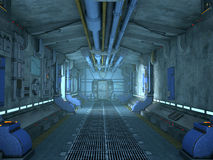 Sci-Fi corridor interior design Stock Photo